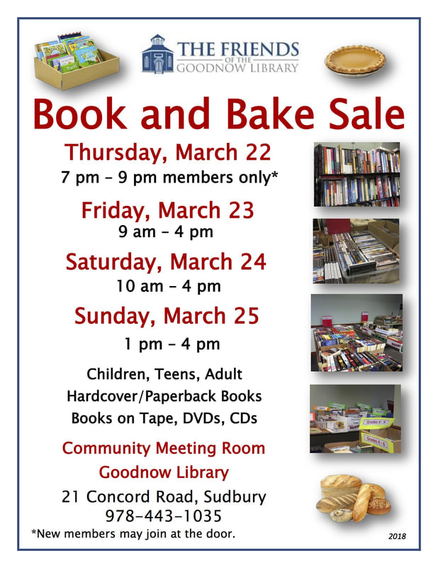 2018 Book and Bake Sale Flyer