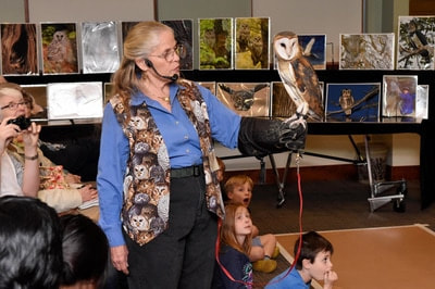 Naturalist Marcia Wilson at a Friends library event