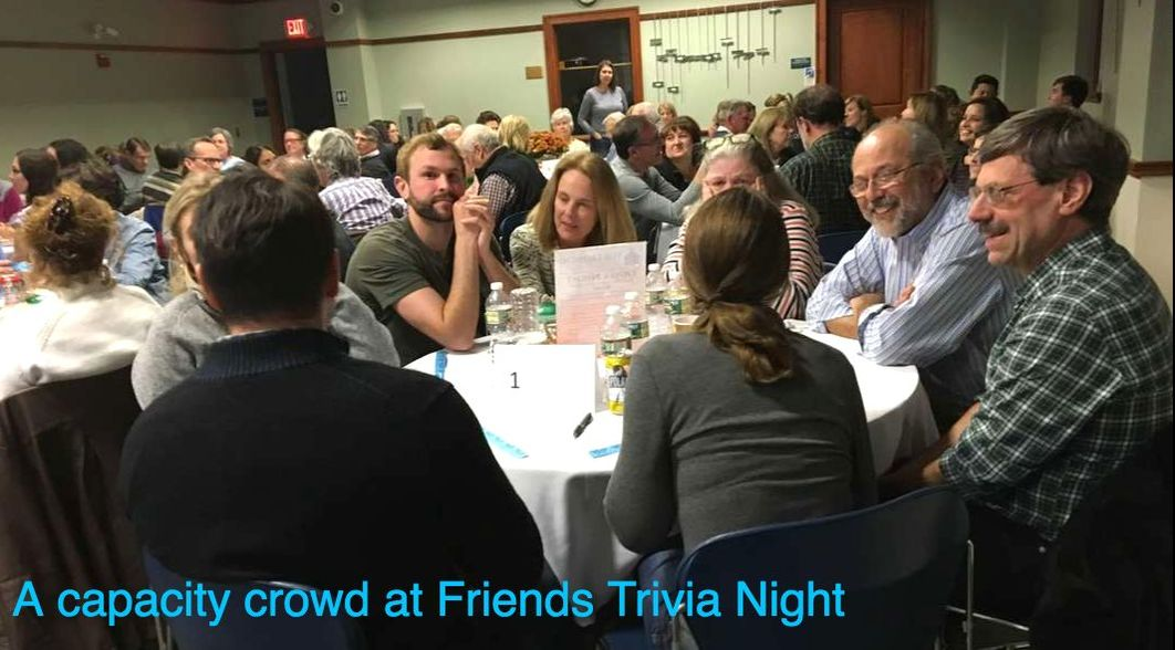 A capacity crowd at Friends Trivia Night